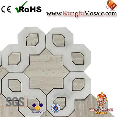 Nouveau design Mosaïque de marbre en bois Mosaïque tuiles