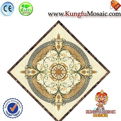 Waterjet Marble Flooring Mosaic Diamond