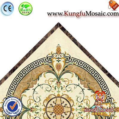 Waterjet Marble Flooring Mosaic Diamond