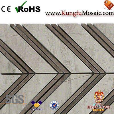Афины мраморная мозаичная плитка елочка