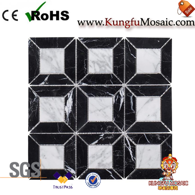 bathroom marble mosaic tile square