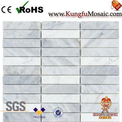 baldosa de mosaico de mármol de carrara
