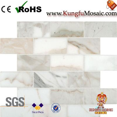 gold marble mosaic tile backsplash