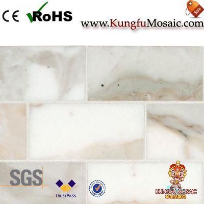 gold marble mosaic tile backsplash