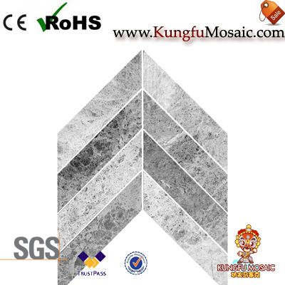 spike marble mosaic tile bathroom floor