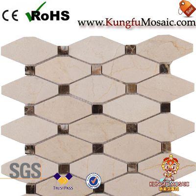 beige marble mosaic tiles
