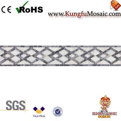 Алмазный узор Серый Мраморная пограничная плитка