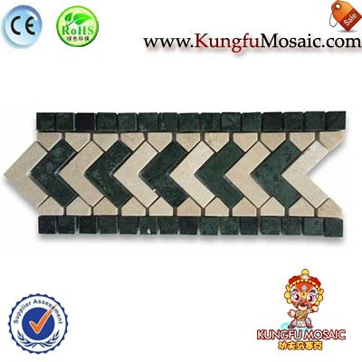 Direction Green Marble Border Tile Mosaic