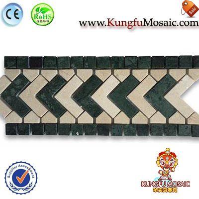 Direction Green Marble Border Tile Mosaic