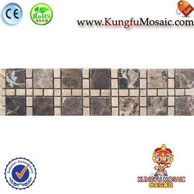 Emperador Marble Border Tile Mosaic