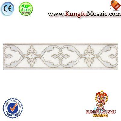 Flower Carving White Marble Border Tile