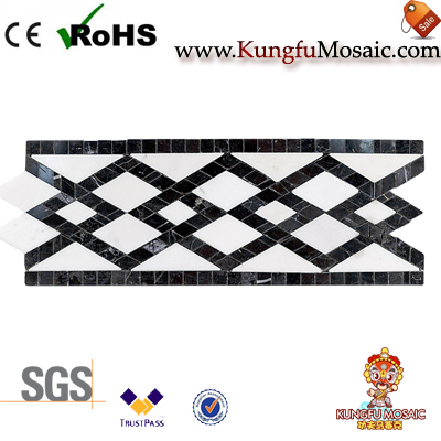 Infinite Diamond Marble Mosaic Border Tile