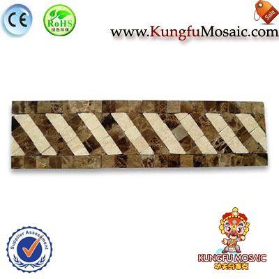 Listello Brown Marble Border Tile Mosaic