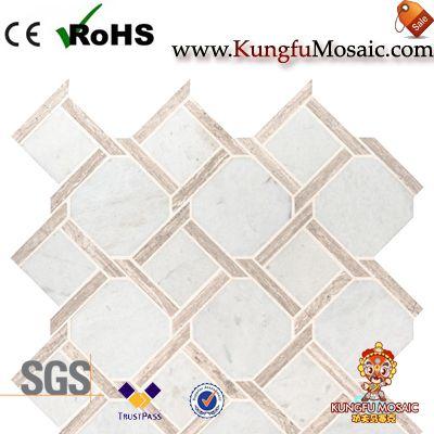 Mesh montiert weißen Marmor Mosaik Wand