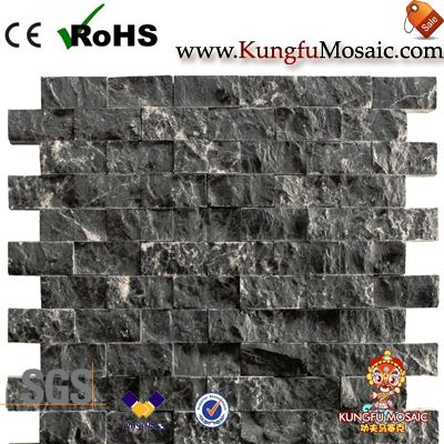Split Black Marble Mosaic Tiles China