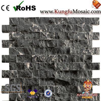 Сплит Черный Мраморная мозаика Плитки Китай