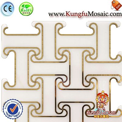 Waterjet Marble Mosaic Flooring Tiles