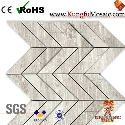 Wood Grey Llimestone Mosaic Tiles