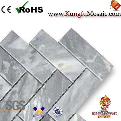 серый мрамор мозаики плитки елочка