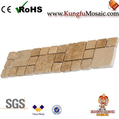 Beige Travertine Mosaic Border Tiles