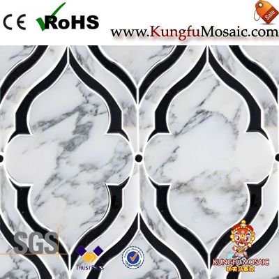 Fountain Marquina Marble Mosaic Tiles