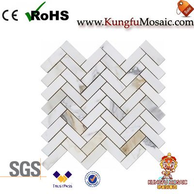 Herringbone Calacatta Marble Mosaic