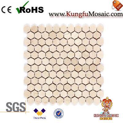 Honey Comp Marble Mosaic Tile