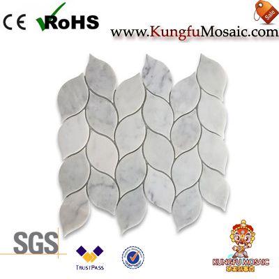 Leaf Shape Marble Mosaic Tile