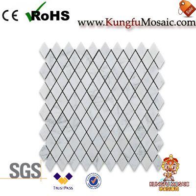 Rhomboid Marble Mosaic Tile
