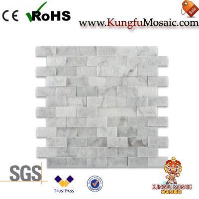 Split Face Marble Mosaic Tile