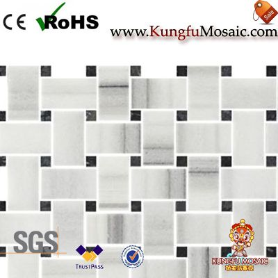 Strato Bianco Marble Mosaic Trim Tile