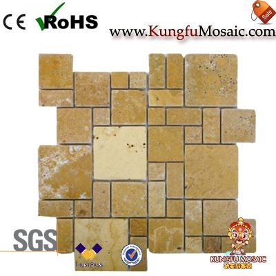 Travertine Mosaic Tiles In French