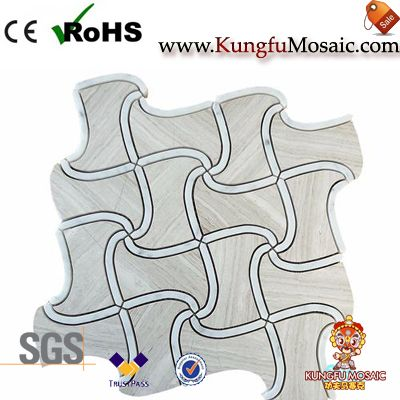 White Wooden Marble And Mosaic Tile