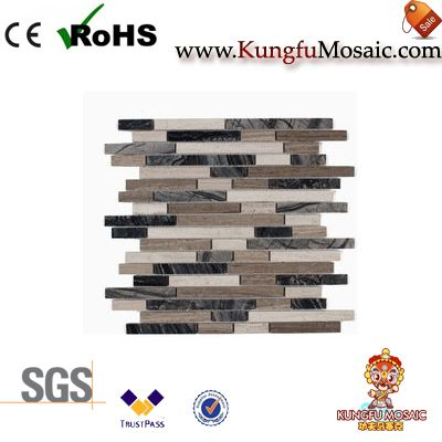 Wooden Marble Mosaic Tile