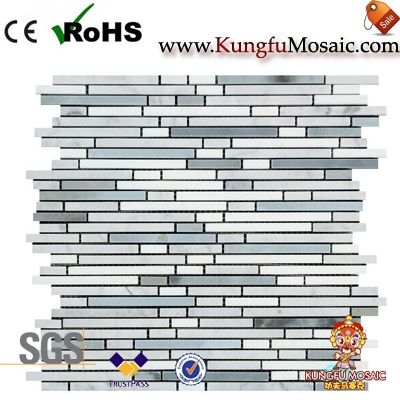 Bamboo Sticks Marble Mosaic Tile