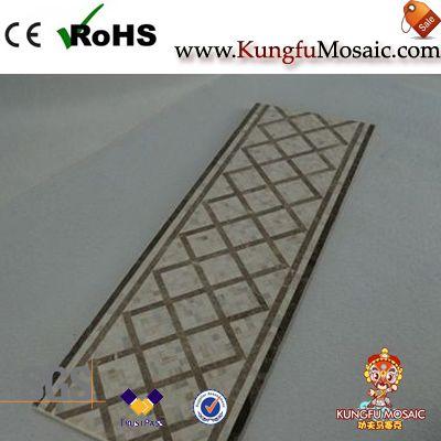 Beige Molding Marble Border Mosaic