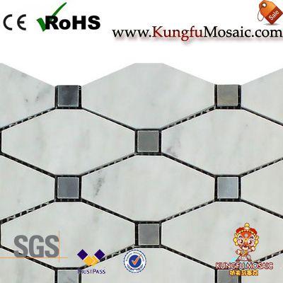 Calacatta Gold Marble Diamond Mosaic Tile