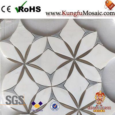 Calacatta Waterjet Marble Mosaic Tile