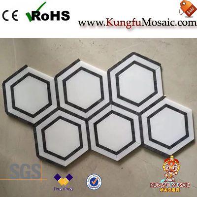 Каррара-Маркина Мраморная шестиугольная мозаика
