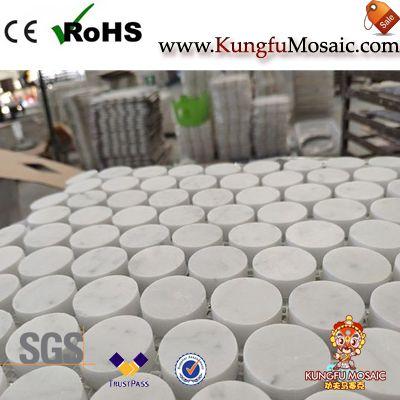 Carrara Penny Runde Marmor Mosaik