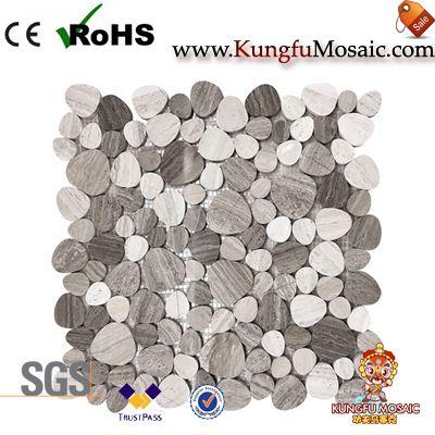 Zeitgenössische Holz grau Marmor Mosaik