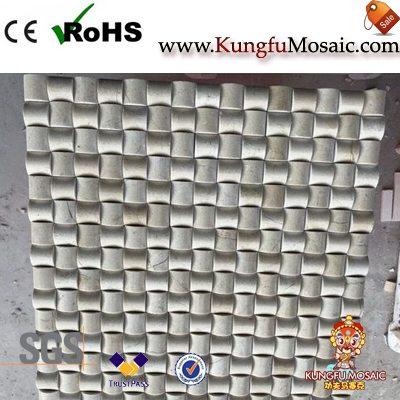 Crema Marfil 3D Small Bread Mosaic