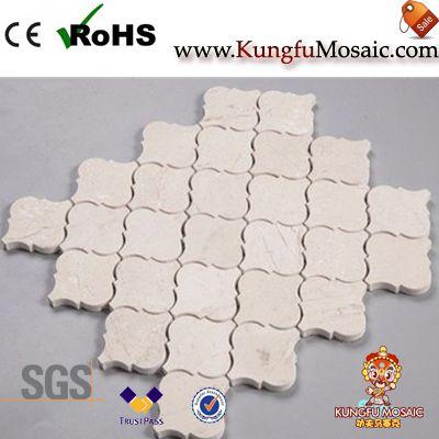 Crema Marfil Marble Lantern Mosaic Tile
