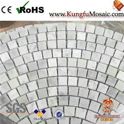 Fan Pattern Brick Cararra Marbre Mosaïque