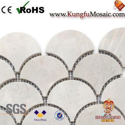 Вентилятор форма Крема Марфил Мраморная мозаика плитка