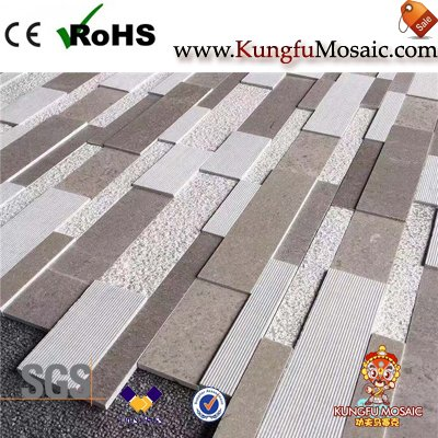 Серые Афины Мраморная стена Мозаика Плитка