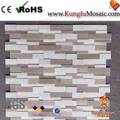 Tuile grise de mosaïque de mur de marbre d'Athènes