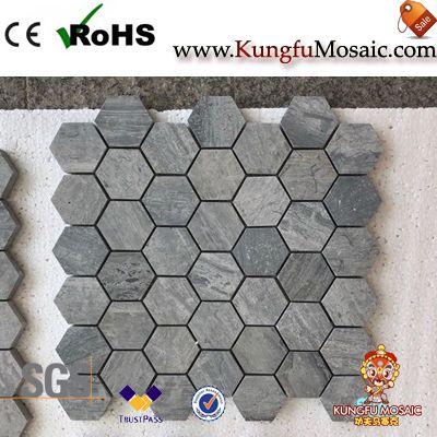 Серый мрамор шестиугольник Мозаики для продажи