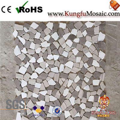 Unregelmäßige Muster Athen grau Marmor Mosaik