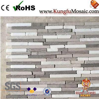 Lineare Streifen Holz Marmor Mosaik